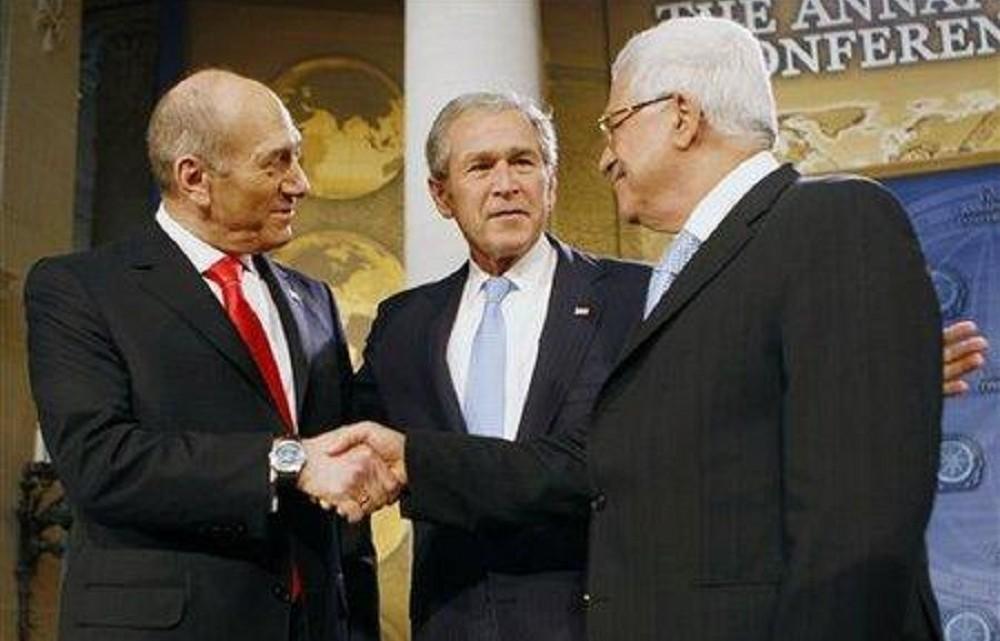 ehud-olmert-mahmoud-abbas-george-bush_masonic-handshake