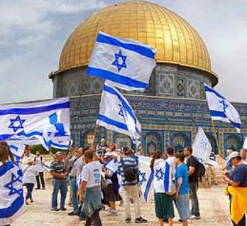 Israeli-flags-on-Temple-Mount-